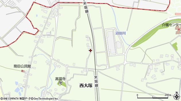 山形県東置賜郡川西町西大塚1276周辺の地図