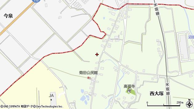 山形県東置賜郡川西町西大塚1190周辺の地図