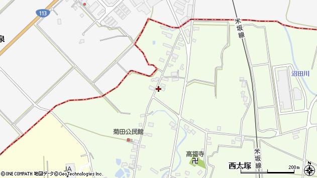 山形県東置賜郡川西町西大塚1179周辺の地図