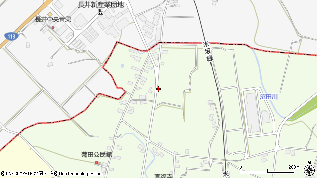 山形県東置賜郡川西町西大塚1256周辺の地図