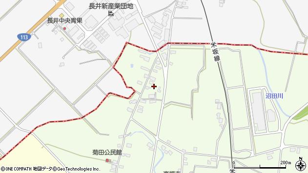 山形県東置賜郡川西町西大塚一里塚周辺の地図