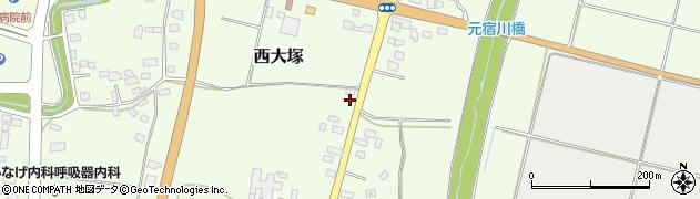 山形県東置賜郡川西町西大塚2316周辺の地図