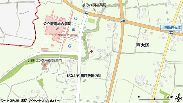 山形県東置賜郡川西町西大塚1885周辺の地図