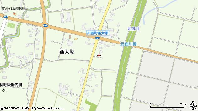 山形県東置賜郡川西町西大塚2319周辺の地図