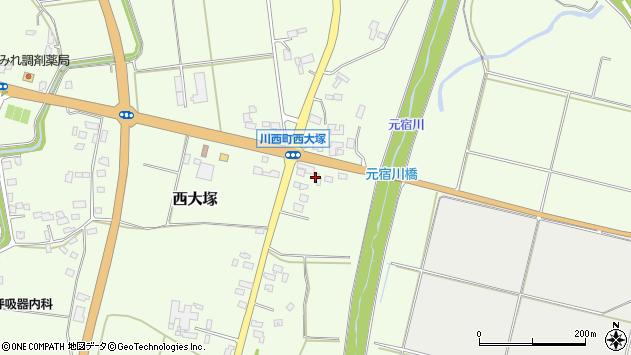 山形県東置賜郡川西町西大塚2441周辺の地図