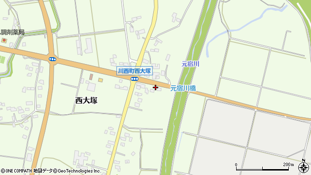 山形県東置賜郡川西町西大塚2445周辺の地図