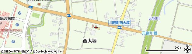 山形県東置賜郡川西町西大塚2309周辺の地図