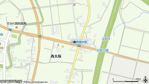 山形県東置賜郡川西町西大塚2304周辺の地図