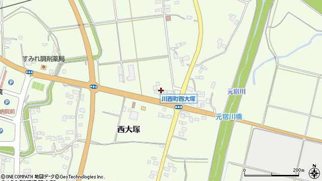 山形県東置賜郡川西町西大塚2305周辺の地図