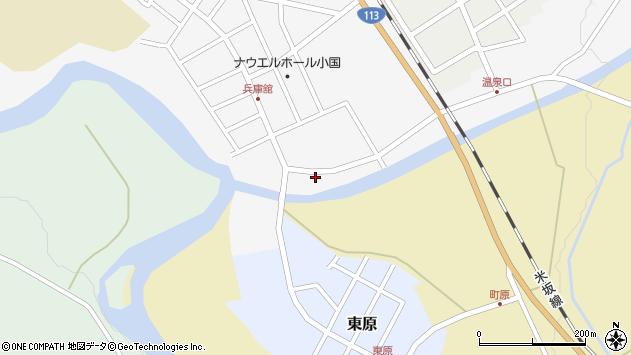 山形県西置賜郡小国町兵庫舘3丁目周辺の地図