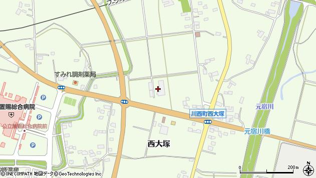 山形県東置賜郡川西町西大塚2405周辺の地図