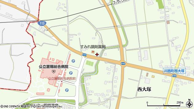 山形県東置賜郡川西町西大塚堂ノ前参周辺の地図