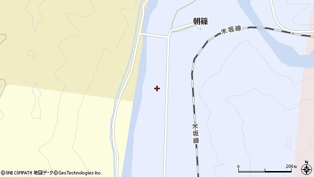 山形県西置賜郡小国町朝篠221周辺の地図