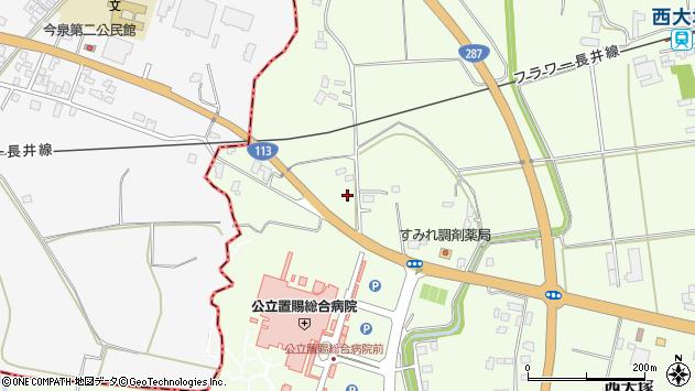 山形県東置賜郡川西町西大塚1987周辺の地図