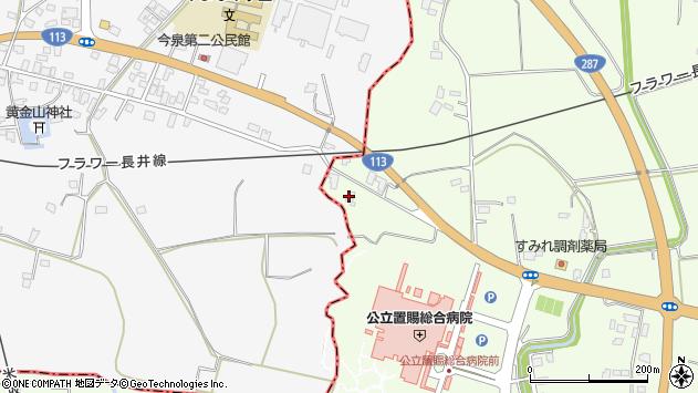 山形県東置賜郡川西町西大塚2026周辺の地図