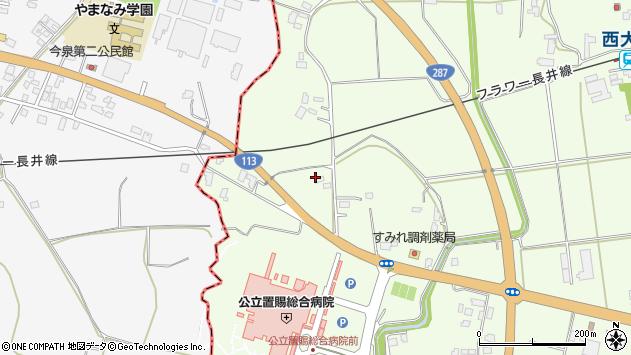 山形県東置賜郡川西町西大塚2010周辺の地図
