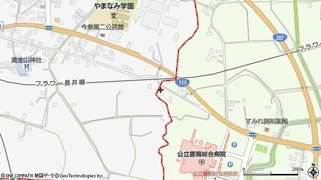 山形県東置賜郡川西町西大塚2025周辺の地図