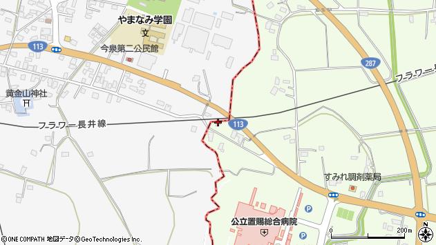 山形県東置賜郡川西町西大塚2036周辺の地図