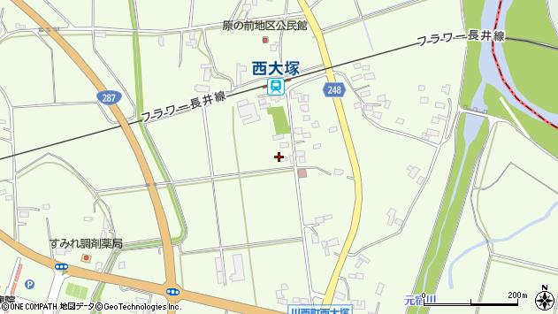 山形県東置賜郡川西町西大塚2978周辺の地図