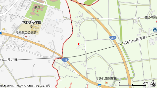 山形県東置賜郡川西町西大塚2041周辺の地図