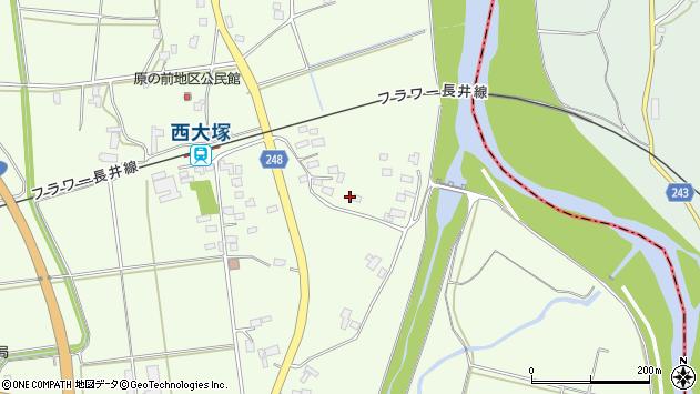 山形県東置賜郡川西町西大塚2891周辺の地図