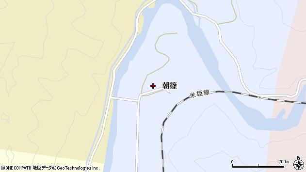 山形県西置賜郡小国町朝篠261周辺の地図