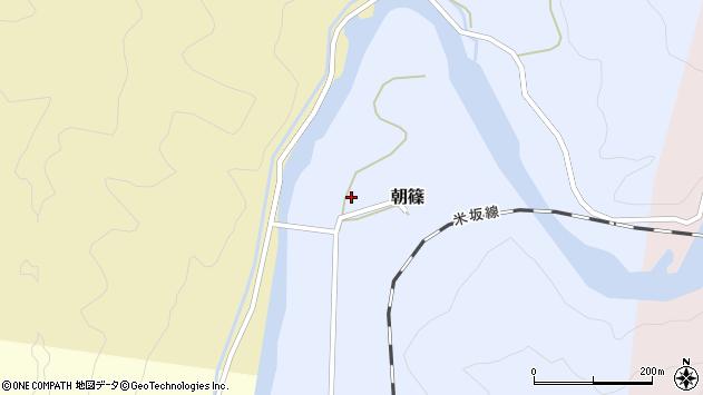 山形県西置賜郡小国町朝篠263周辺の地図