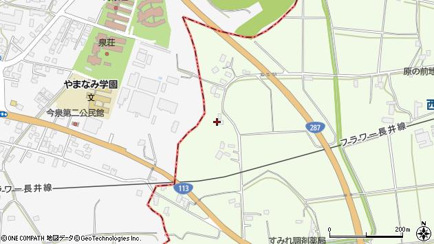 山形県東置賜郡川西町西大塚2061周辺の地図