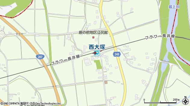 山形県東置賜郡川西町西大塚2972周辺の地図