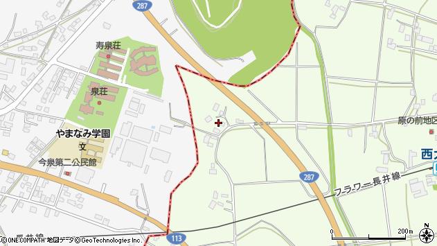 山形県東置賜郡川西町西大塚2090周辺の地図