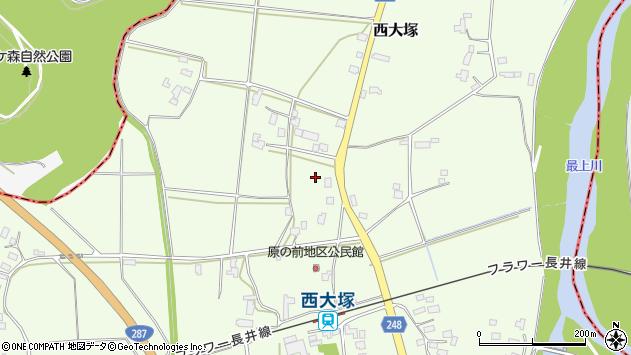 山形県東置賜郡川西町西大塚3061周辺の地図