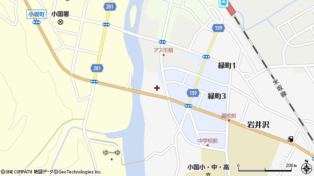 山形県西置賜郡小国町岩井沢765周辺の地図