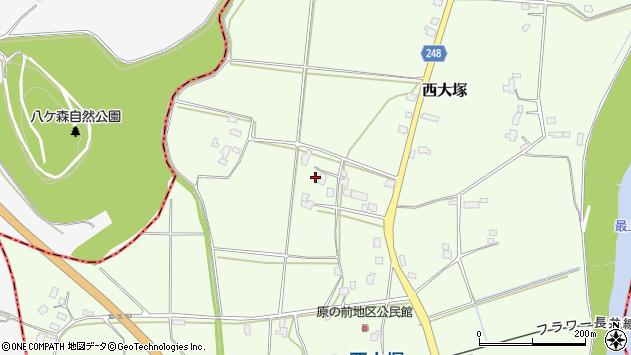 山形県東置賜郡川西町西大塚3823周辺の地図