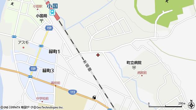山形県西置賜郡小国町岩井沢36周辺の地図