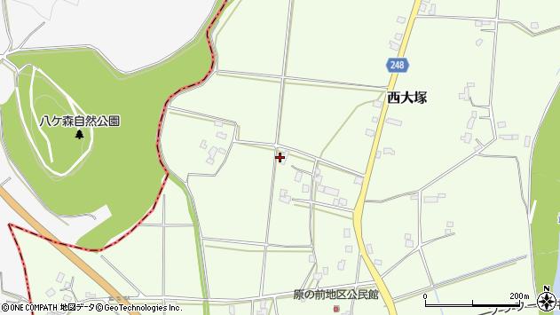 山形県東置賜郡川西町西大塚3829周辺の地図