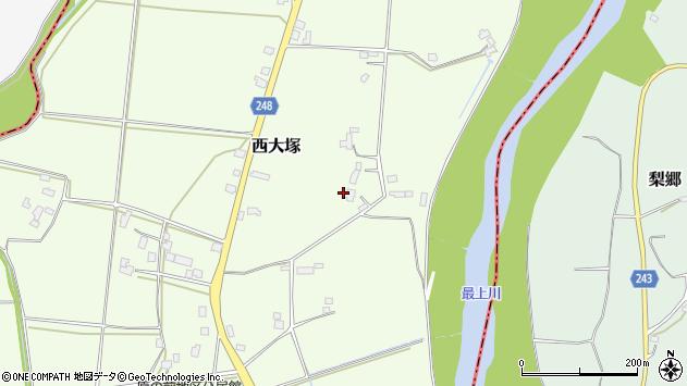 山形県東置賜郡川西町西大塚3676周辺の地図