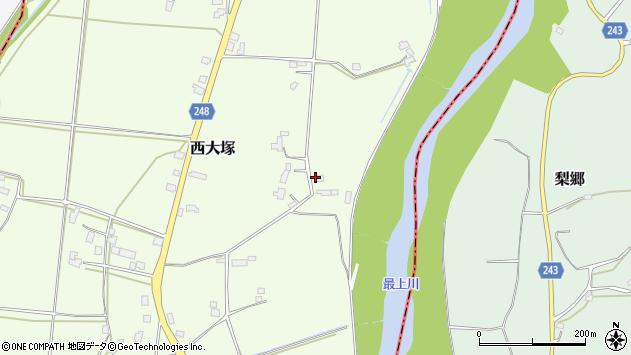 山形県東置賜郡川西町西大塚3311周辺の地図