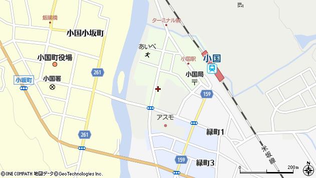 山形県西置賜郡小国町栄町4周辺の地図