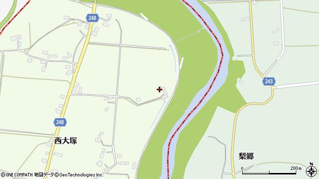 山形県東置賜郡川西町西大塚3408周辺の地図