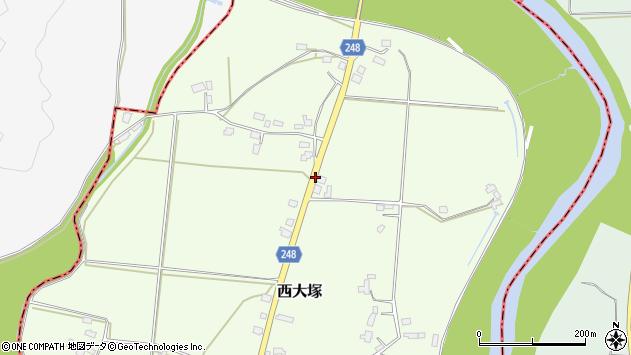 山形県東置賜郡川西町西大塚3657周辺の地図