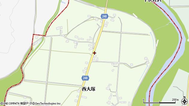 山形県東置賜郡川西町西大塚3669周辺の地図