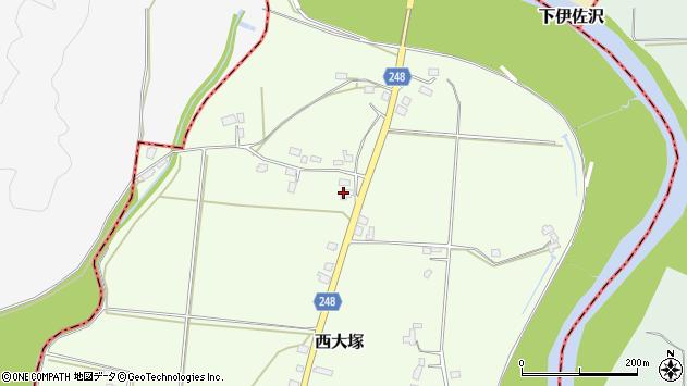 山形県東置賜郡川西町西大塚4025周辺の地図