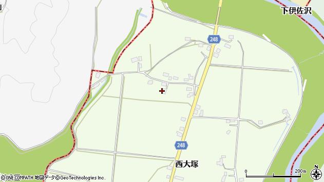 山形県東置賜郡川西町西大塚4037周辺の地図