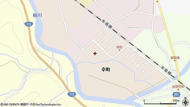 山形県西置賜郡小国町幸町14周辺の地図