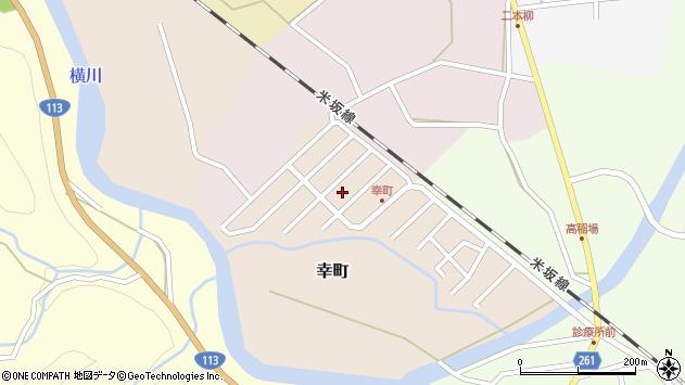 山形県西置賜郡小国町幸町周辺の地図