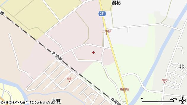 山形県西置賜郡小国町増岡周辺の地図