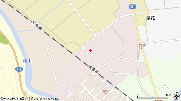 山形県西置賜郡小国町増岡130周辺の地図