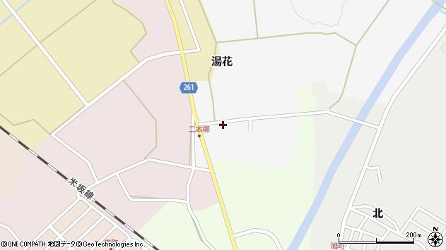 山形県西置賜郡小国町湯花6周辺の地図