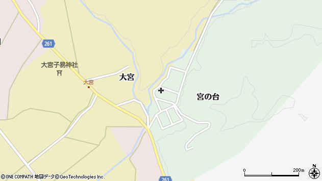 山形県西置賜郡小国町宮の台35周辺の地図