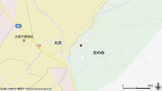 山形県西置賜郡小国町宮の台44周辺の地図